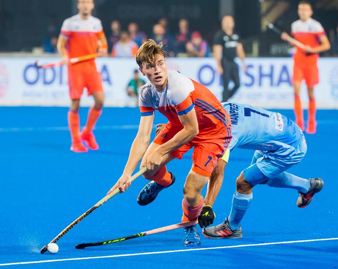 Archiefbeeld van Nederland tegen India.