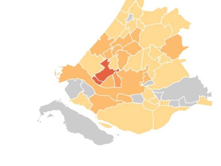 Rotterdam meeste nieuwe positieve testen van Nederland, maar veel minder dan eerder