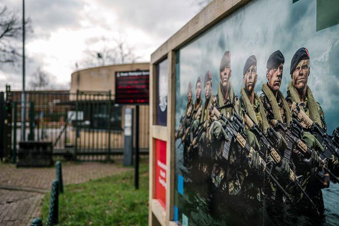 Een beeld van de Van Braam Houckgeestkazerne van het Korps Mariniers in Doorn.