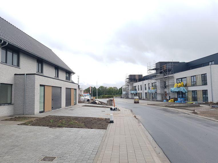 De nieuwe verkaveling in de Ettelgemstraat.