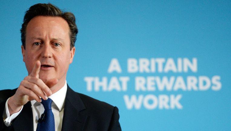 De Britse Premier David Cameron is natuurlijk in zijn nopjes.