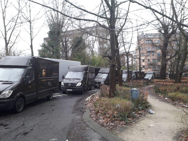 Het depot van de onderaannemer in Mechelen werd geblokkeerd door bestelwagens van UPS.