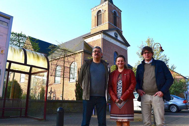 Marc Van der Borght (l), Erna en Jonas Danckers (R).