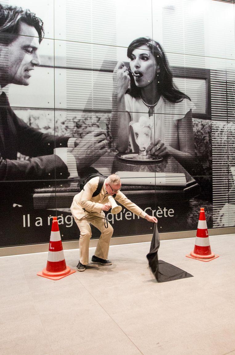 De foto van het stel met het ijsje is genomen bij ijssalon Venetië Beeld Jesper Boot