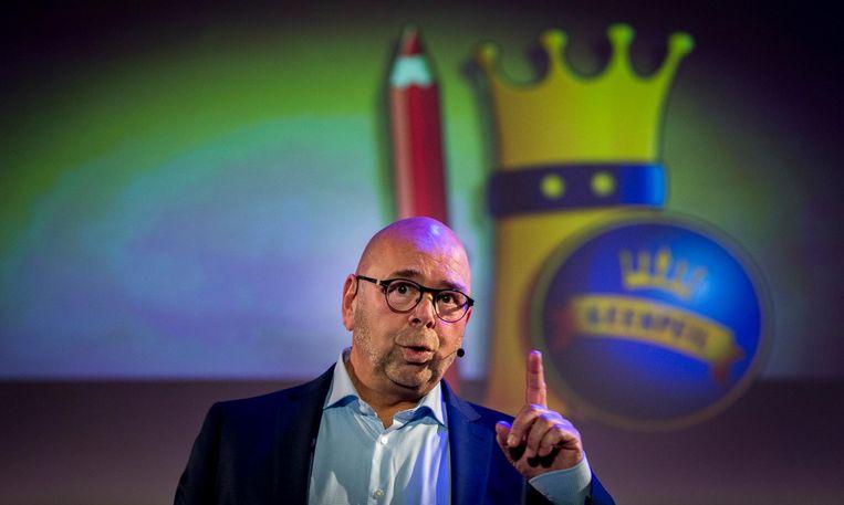 Jan Dijkgraaf wordt gepresenteerd als lijsttrekker voor de nieuwe politieke partij GeenPeil. Beeld anp