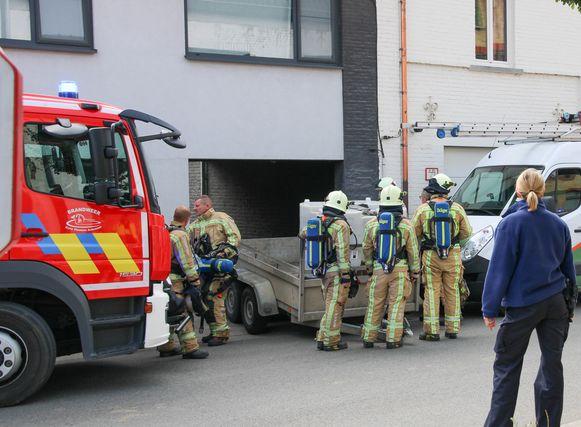 Teams van de brandweerpost van Brakel en Oudenaarde kwamen ter plaatse.