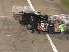 Crash op racebaan leidt tot knokpartij