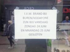 Schoenenwinkel na brand mogelijk volgende week weer open