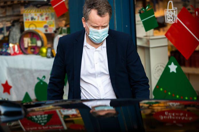 De Britse hoofdonderhandelaar David Frost in Brussel.