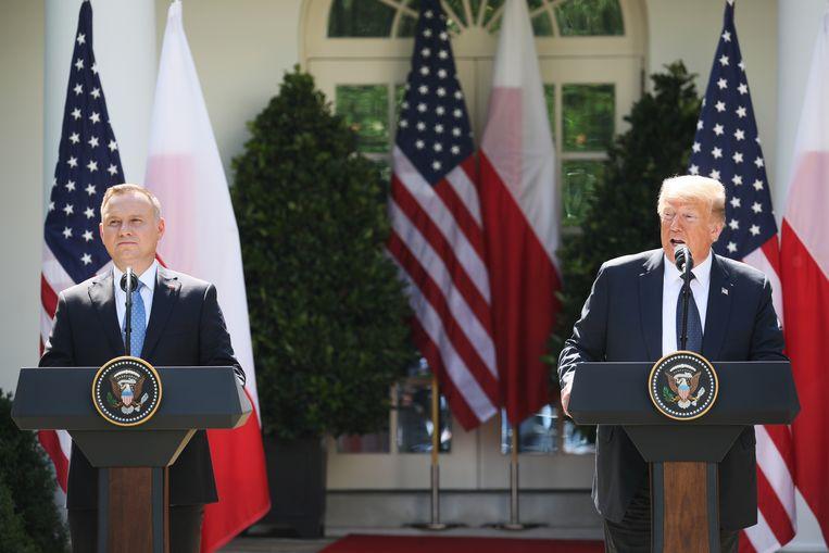De ontmoeting vond plaats, enkele dagen voor de presidentsverkiezingen in Polen.