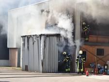 Brand in loods op scheepswerf in Werkendam