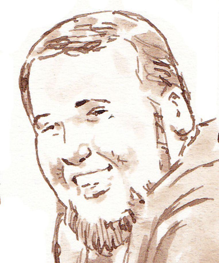 Rechtbanktekening van de verdachte Rudolph H. Beeld ANP