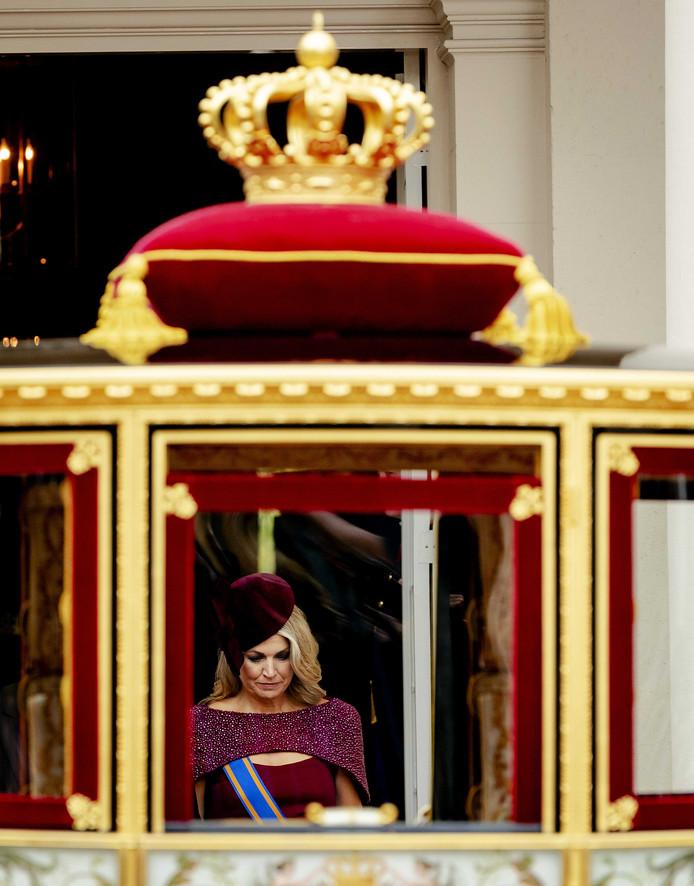 Koningin Maxima, vandaag in de Glazen Koets.