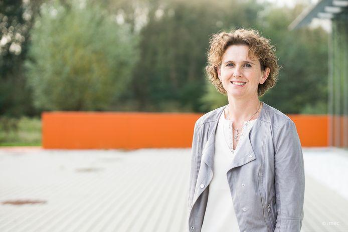 Kathleen Philips, directeur van Imec Nederland dat naast TNO partner is in het  Holst Centre in Eindhoven.