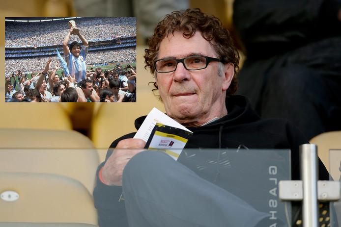 Willem van Hanegem, inzet: Diego Maradona.