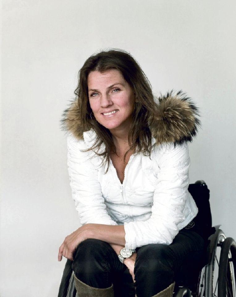 Monique Velzeboer viel tijdens een training. Ze had geen pijn maar wist meteen dat ze nooit meer zou kunnen lopen. (FOTO MAARTJE GEELS ) Beeld