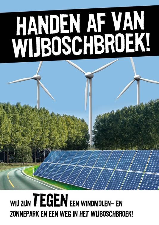 Het pamflet van Handen af van Wijboschbroek!