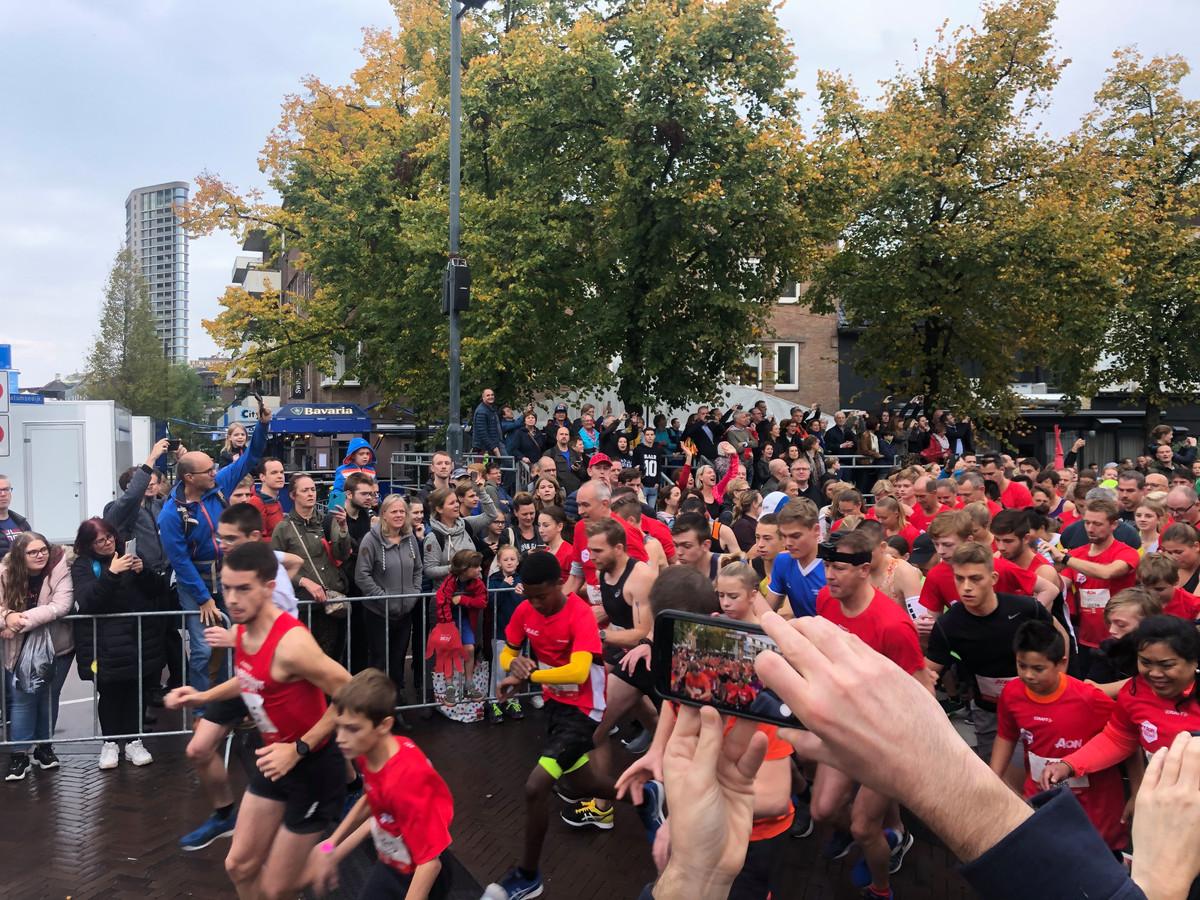 Start van de City Run 5km van de Marathon Eindhoven.