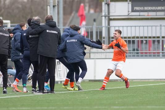 Wimilio Vink maakte tegen ASWH zijn eerste doelpunt van het seizoen.