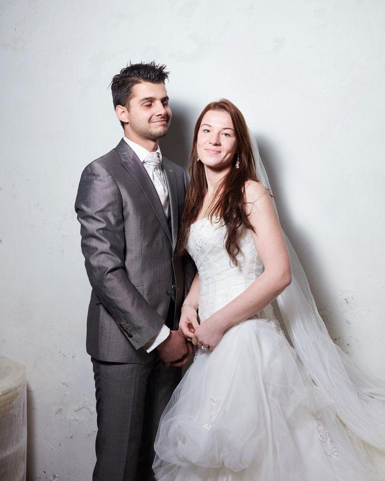 Annemiek en Arno. Allebei waren ze 18 toen ze trouwden. Beeld Erik Smits