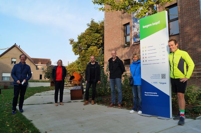 De inhuldiging van het eerste deel van de nieuwe stadslooproute 'Izegem Loopt' in Emelgem. De omloop start op het Emelgemseplein.