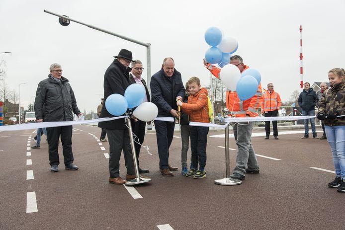 De vernieuwde N750 is geopend in Daarlerveen.