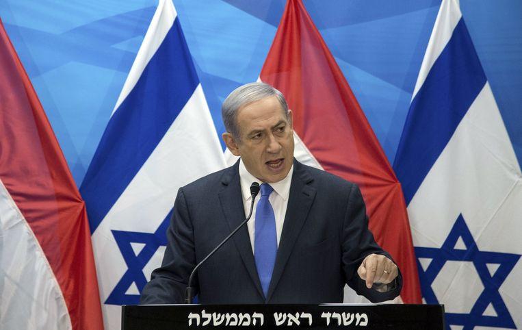 Benjamin Netanyahu spreekt dinsdag over het nucleair akkoord tussen Iran en zes wereldmachten. Beeld REUTERS