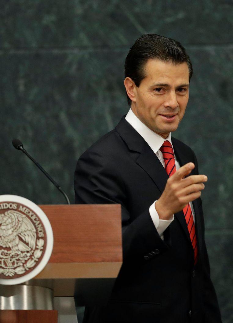 President Enrique Pena Nieto van Mexico. Beeld ap