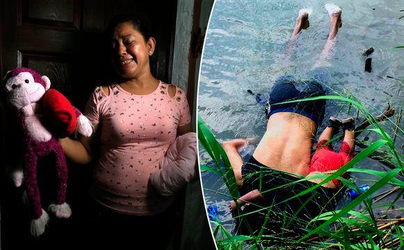 Rosa Ramirez (links) huilt als ze vertelt over haar gestorven zoon en kleindochter.