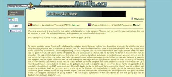Een screenshot van de website.