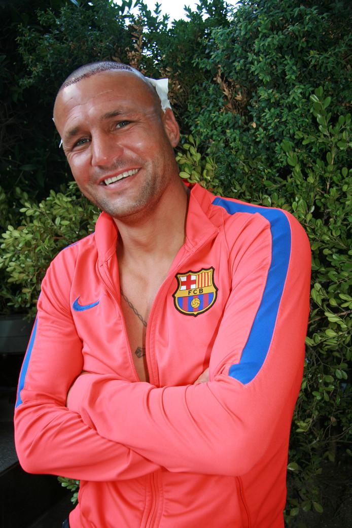 Kickbokser Chris van Venrooij uit Arnhem, na zijn haartransplantatie in Istanboel. FOTO: SLAWOMIRA KOZIENIEC