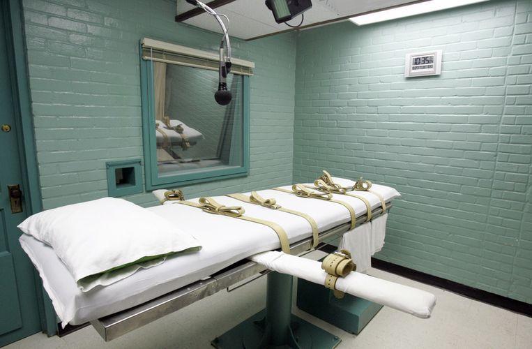 De executiekamer in de gevangenis van Huntsville, Texas.