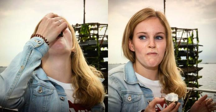 Fotografe Marcelle heeft hoogstwaarschijnlijk meer heeft gesmuld van mijn gezichtsuitdrukking, dan ik van de oester :')