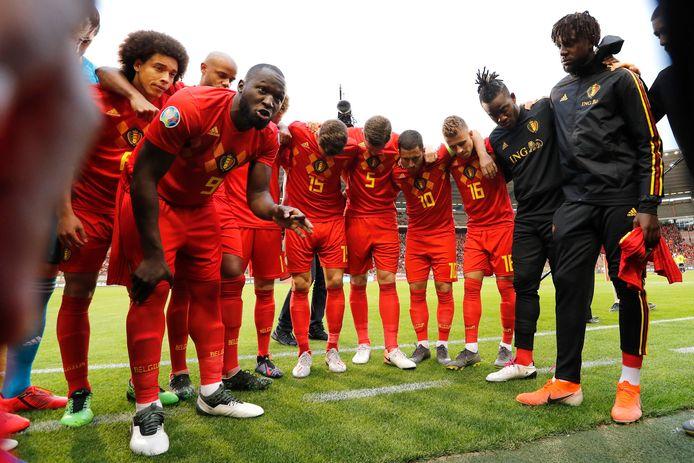 Romelu Lukaku motive ses partenaires avant le match face à l'Ecosse