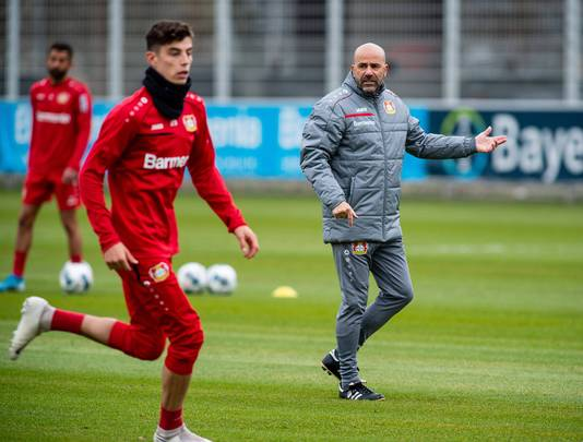 Peter Bosz met sterspeler Kai Havertz.
