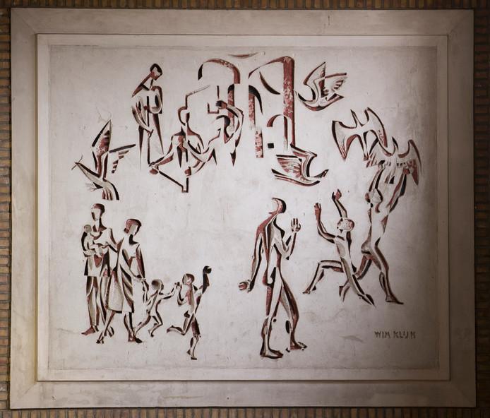 De 'geredde' werken van de Waalwijkse kunstenaars Wim Klijn en Gerrit de Moree uit Walewyc.