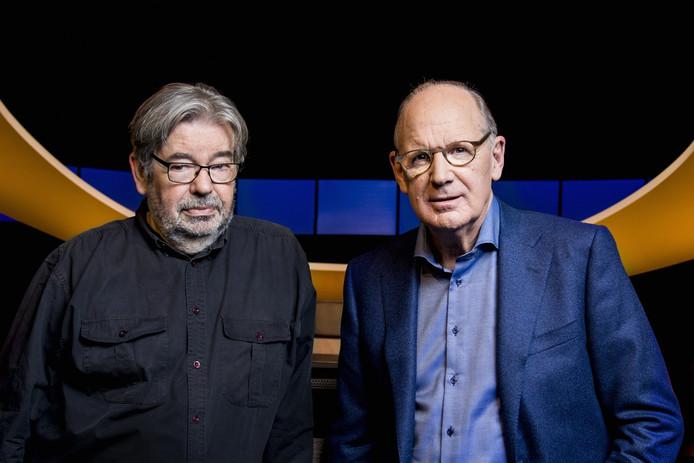 De slimste mens-duo: Maarten van Rossem en Philip Freriks.