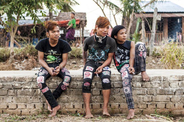 Yangon heeft een actieve punkscene. Beeld Yvonne Brandwijk
