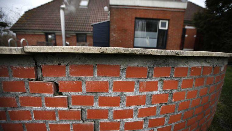 Schade aan een Groningse woning na een aardbeving. Beeld anp