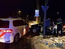 Politie rijdt gestolen auto klem na wilde achtervolging over de Veluwe