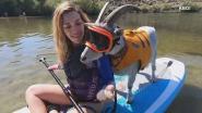 Sportieve geit gaat paddleboarden