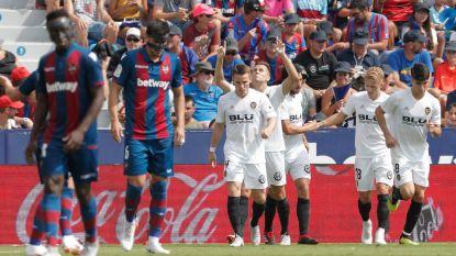 Valencia blijft steken op 2-2 bij kleine broer Levante, alweer slechts invalbeurt voor Batshuayi