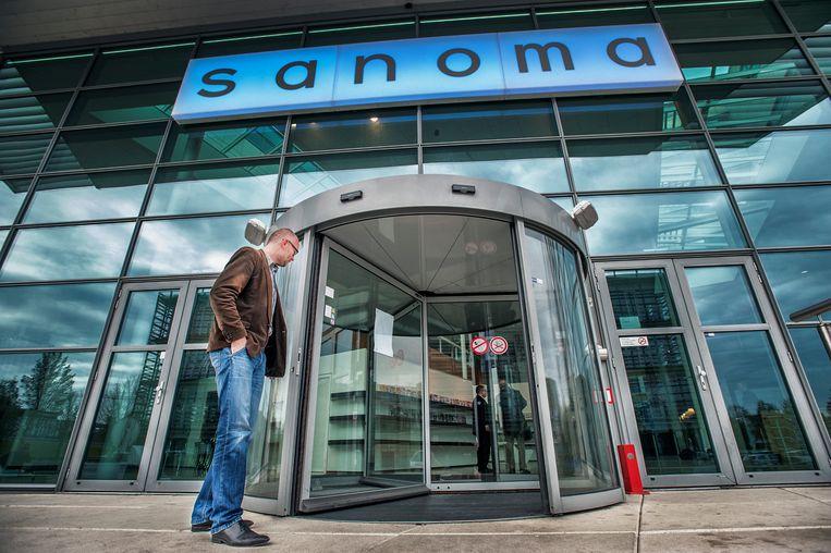 Het hoofdkantoor van Sanoma in Hoofddorp.  Beeld Raymond Rutting / de Volkskrant