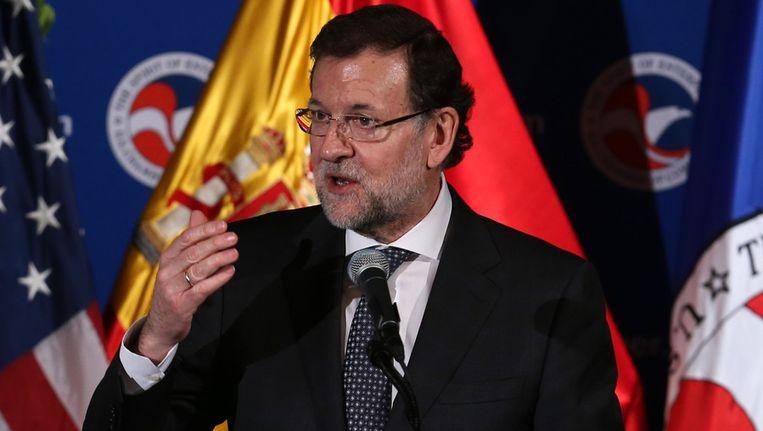 Premier Mariano Rajoy eergisteren in Wshington. Beeld getty