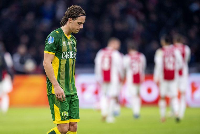 ADO Den Haag speler Giovanni Troupee na het verlies tegen Ajax in Amsterdam (5-1). Beeld ANP Pro Shots