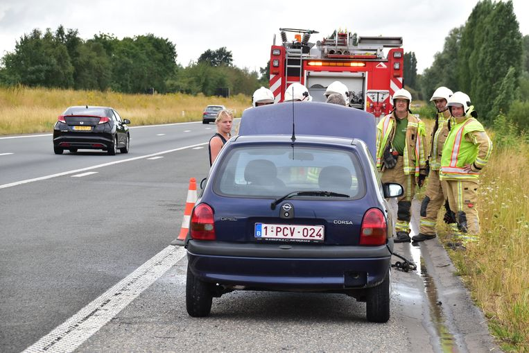 Het incident verorzaakte geen verkeershinder op de A19.