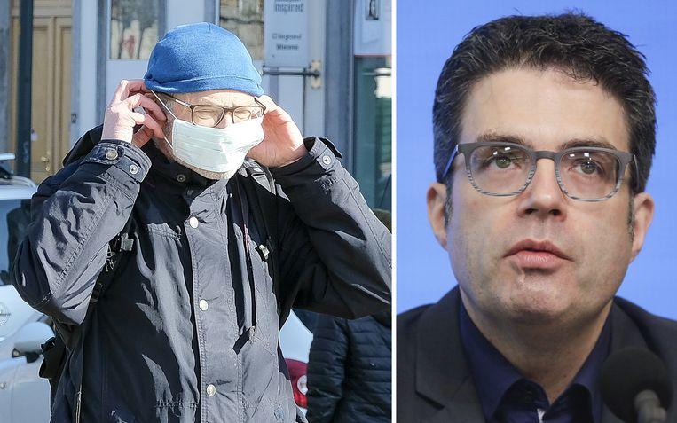 """""""Je kan het virus niet krijgen door op straat te wandelen en te ademen"""", zegt viroloog Steven Van Gucht."""