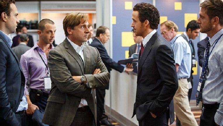 Steve Carell en Ryan Gosling in The Big Short. Beeld