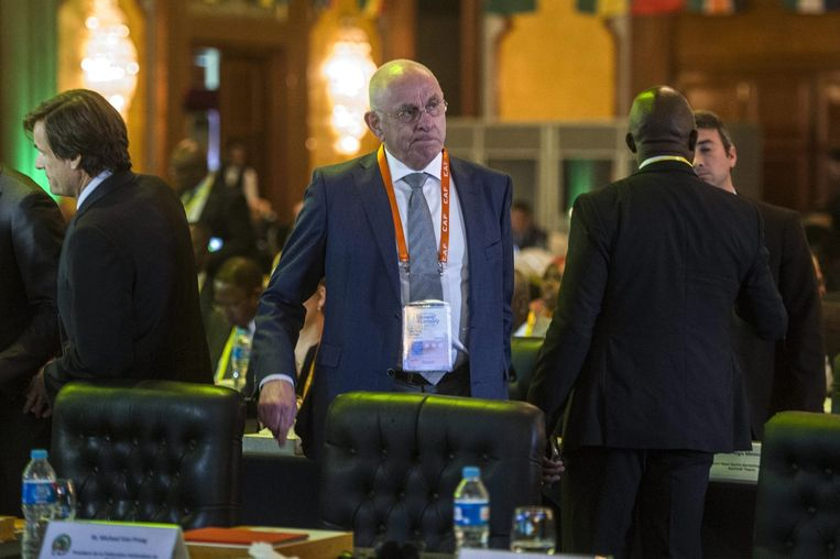 Michael van Praag bij de Confederation of African Football, in april in Egypte. Beeld null