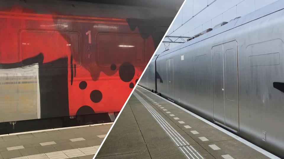 De treinen in Enschede (links) en Wormerveer